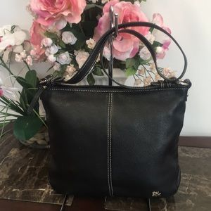 The Sak Black Leather Shoulder Bag EUC